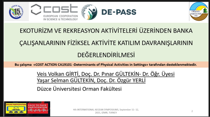 Presenting at 4th International Aegean Symposium, Turkey - Dr. Pinar Gultekin